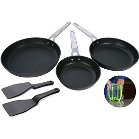 Valira 5 Piece Aire Chef's Everyday Essentials Premium Cookware Set, Black by Valira