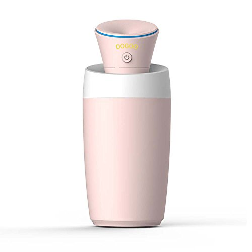 Price comparison product image DOGOO USB Mini Portable Cool Mist Humidifier with Auto Shut-off (Pink)