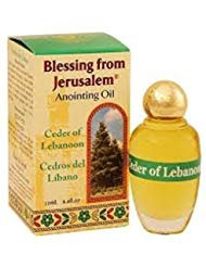 Lebanon Anointing Oil - Anointing Oil with Biblical Spices from Jerusalem 0.34oz (10ml) (Cedar of Lebanon)