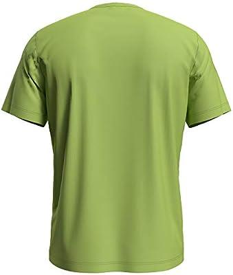 Odlo s/s Crew Neck Element Camiseta, Hombre, Green Glow, Small ...