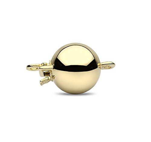 Kimura Pearls Femme  18carats (750/1000)  Or jaune|#Gold Rond  Perle d'eau douce chinoise Noir Perle FINENECKLACEBRACELETANKLET
