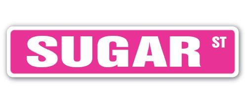 SUGAR Street Sign sweet sugarcane candy bakery refinery | Indoor/Outdoor | 24