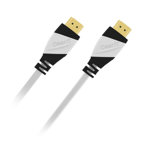 4K HDMI Cable 15 Feet/15 ft, GearIT Pro Series High Speed HDMI 2.0 Cable Supports 4K, Ultra HD, 3D, 1080p, Ethernet and Audio Return (Latest Standard), White by GearIT