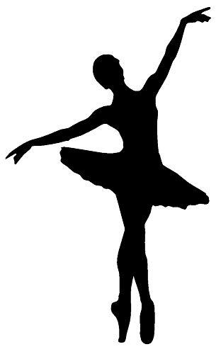 (Yohoba Ballerina Ballet Studio Dancer Vinyl Decal Sticker Car Window Wall Bumper Decor)