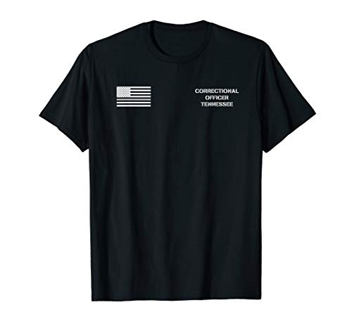 Tennessee Correctional Officer Thin Gray Line Flag T-Shirt ()
