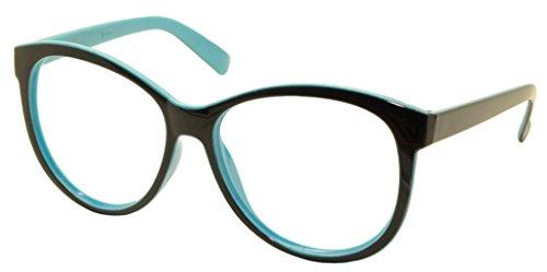 [FancyG® Vintage Fashion Style Oversized Oval Round Glasses Frame Unisex Eyewear No Lens - Black] (Funny Weird Halloween Costumes)