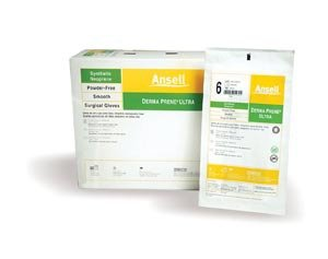 Ansell 8517 Derma Prene Ultra Powder-Free Neoprene Surgical Gloves44; Size 8.544; 50 Pairs per Box