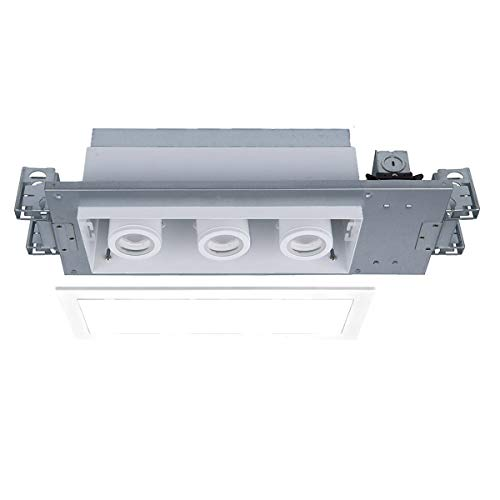 Recessed Non Ic Lighting Standard - WAC Lighting MT-4315T-927-WTWT Silo LED Multiple Three New Construction Non-IC Airtight Housing with Light Engine Housing & LED White
