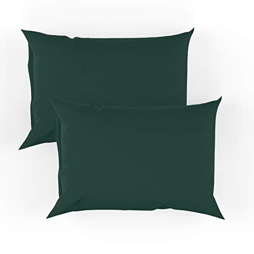 College Colors Pillowcases 100% Brushed Microfiber, Hypoallergenic Pillow Cover - Dorm Bedding Soft, Stain, Fade and Wrinkle Resistant (Standard 20x30 - 2 Pack, Green)