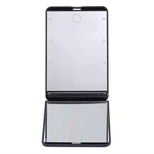 leshp portable 8 led magnifying lighted makeup mirror. Black Bedroom Furniture Sets. Home Design Ideas