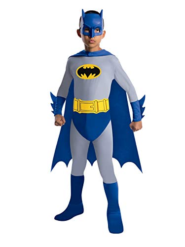 Batman Kids Costume (Batman The Brave and The Bold Batman Costume with Mask and Cape,)