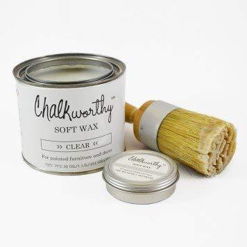 (Giani Granite Chalkworthy Antiquing Paint Soft Wax, 1 lb, Clear)