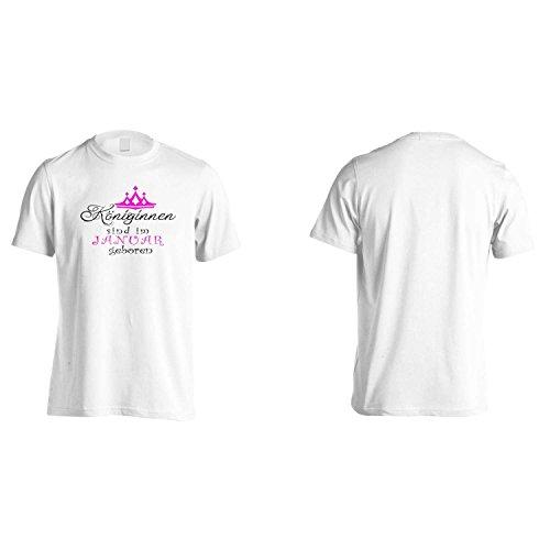 Neu Königinnen sind im Januar geboren Herren T-Shirt z39m