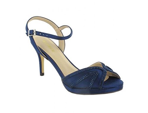 Sat�n Azul De Mujer Sandalias Para Vestir Turquesa Menbur wCBx6pqt