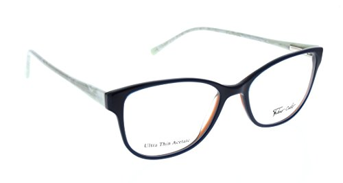 FABIO CIELO (# 5855) Italian Design Eyeglasses 50mm, Elegant Ladies/ Women RX Prescription Optical Frames Authentic Glasses Includes Case, Design In Italy (Blue - Italian Mens Eyeglasses