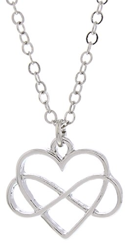 Infinity Heart Pendant (Silver-Tone Heart Infinity Symbol Pendant Necklace Fashion Jewelry Thank you for your Infinite Love and)