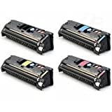 HP 2550 122A 4 Color Set (Black, Cyan, Magenta, Yellow) Q3960A, Q3961A, Q3962A, Q3963A for use in HP Color LaserJet 2550, 2820, 2840, 2550n, 2550LN Series Printers Black:6,000 (SET)