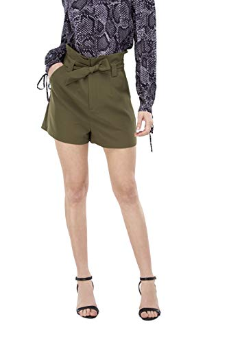 - Our Heritage Women's Shorts Women's Khaki As Sample Paper Bag Shorts with Belt Sash (XL)