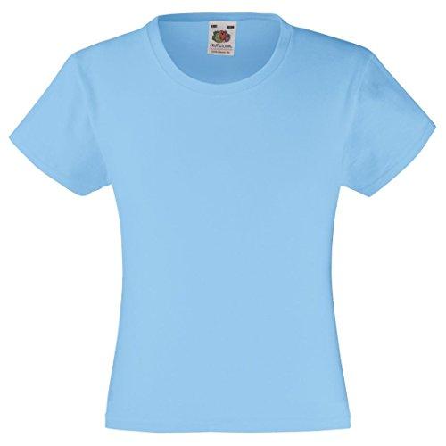 Fruit of the Loom - Camiseta de manga corta - para niña azul celeste