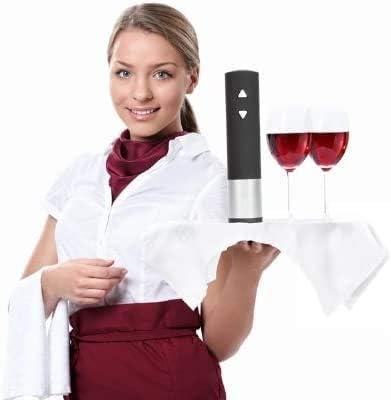 YFGQBCP Mango Suave con LED eléctrico de Vino sacacorchos Vino del Acero Inoxidable Vino Vino sacacorchos abrebotellas