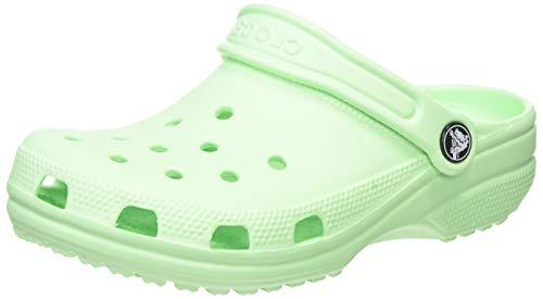 Crocs Unisex-Kid's Classic Clog, Neo Mint, 5 M US Big Kid