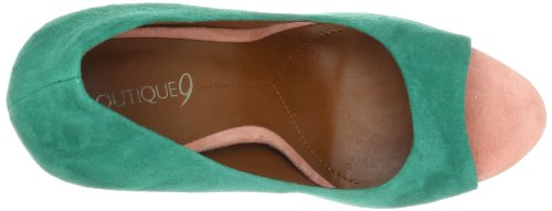 Boutique 9 Claudius - Zapatos de vestir de cuero para mujer Green Mu