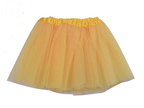 SUNNYTREE Yellow Tutu for Girls Skirts Ballet Dress Dance Costumes Yellow ()