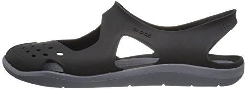 black Wave Femme 001 Swiftwater Mules Crocs Noir gFvqv8