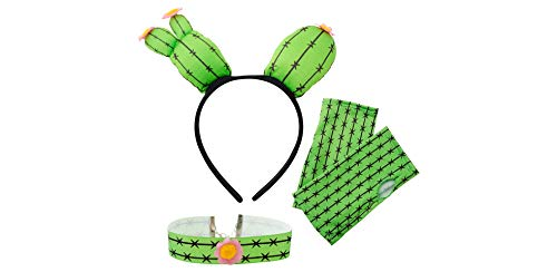 M&J Trimmings/Papillion Accessories Cactus Halloween Costume Accessory Kit for Women, 3 Pieces Green