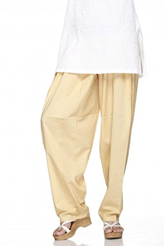 Cotton Plain Indian Salwar Pants in Several Colour - Kameez Yoga Dress by Ladyline (Image #1)