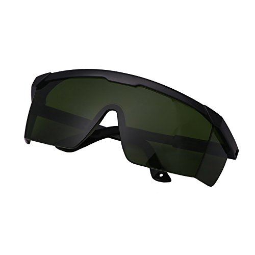 HDE Laser Eye Protection Safety Glasses for Red and UV Lasers with Case (Green) (Light Safety Laser)