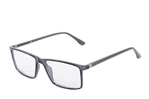 SHINU Clear Lens Eyeglasses Anti Blue Light Goggles Computer Reading Glasses-9195(grey, - Goggles Computer