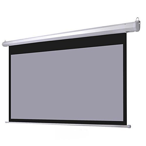 100'' 16:9 Grey Material Foldable Electric Motorized Projector Screen + Remote HD by Leesons Inc