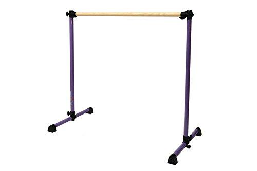Vita Vibe Prodigy Series: Traditional Wood Single Bar Freestanding Ballet Barre 6ft (Purple) - Single Ballet Bar