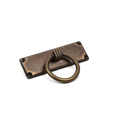 Century Hardware Primitive Drawer/Spice Drawer 64mm c.c Ring Pull Pack of 10 (Weathered Brass)