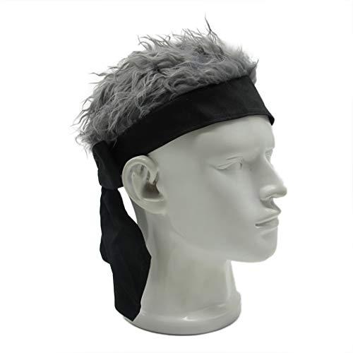 Raylans Novelty Sun Visor Cap Wig Peaked Adjustable Baseball Hat with Spiked Hair