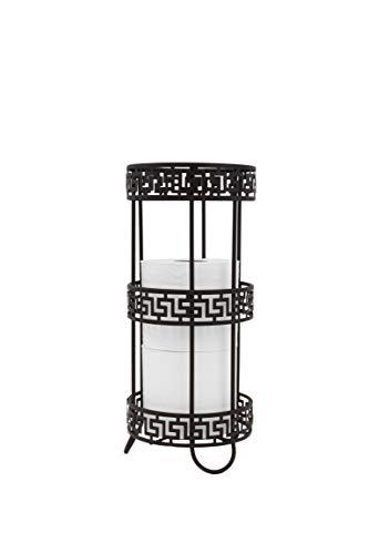 - Inspired Living Toilet Paper Holder Reserve Stand TP Tower, Elegant, Bronze