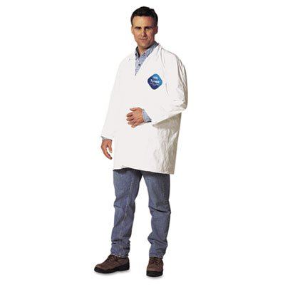 DuPont Tyvek Lab Coat, Snap Front, 2 Pockets X-Large (Case of 30)