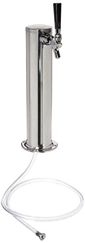 Kegco KC D4743T-SS Polished Single Faucet Draft Beer Tower, 3