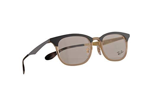 Ray-Ban RB 7112 Eyeglasses 51-20-140 Light Brown Grey w/Demo Clear Lens 5686 RX RX7112 ()
