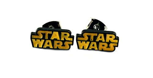 Star Wars Text Earrings Enamel Post Studs Movies Comics Cartoons Books Chibis Character Theme]()