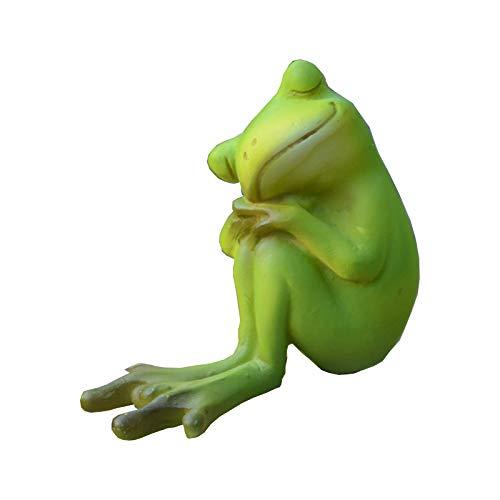 (Gemmia Garden Frog Figurine - Thinking Frog Statue)