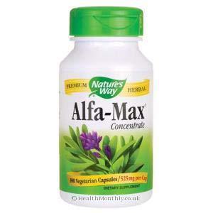 Natures Way Alfa Max Concentrate, 525 milligrams per Capsule, 100 Vegetarian Capsules