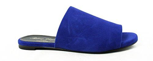 Robert Clergerie Womens Blue Slide Flats Size 6.5 New