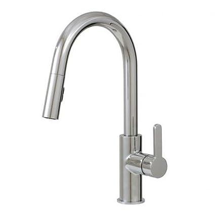 Aquabrass 6045N-BN Quinoa Pull-Down Dual Stream Mode Kitchen Faucet ...