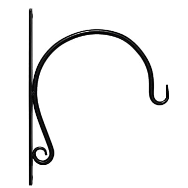 REMARKABLY STURDY, IRON HANGER FOR HEAVY DUTY DOODADS, Elegant Hook/Bracket for Hanging Wind Chimes, Plants, Wind Spinners, & Bird Feeders, Great for Easy Enhancements to Indoor & Outdoor Décor