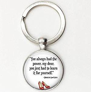 b7888d3064 You Always Had The Power Key Ring Wizard of oz Jewelry, Wizard of oz Key  Chain, Fashion Silver Plated Choker