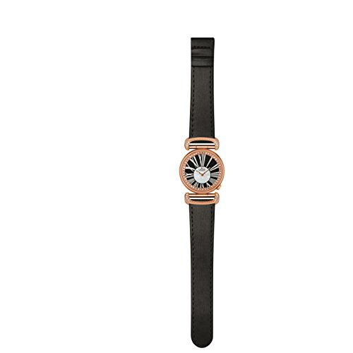 Charmex Malibu 6277 32mm Stainless Steel Case Black Calfskin Synthetic Sapphire Women's Watch