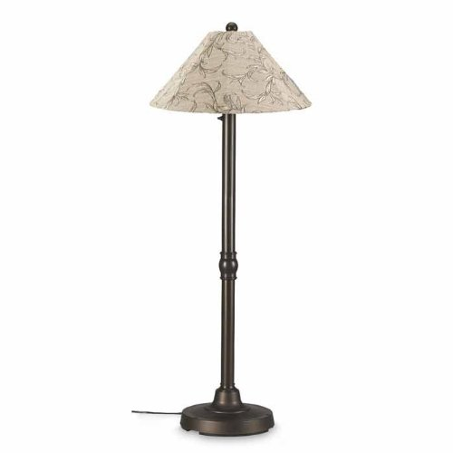 Patio Living Concepts San Juan 60 in. Outdoor Bronze Floor Lamp with Bessemer Shade by Patio Living Concepts