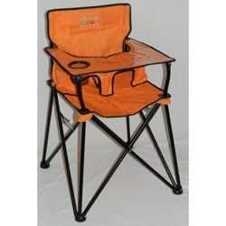 portable travel high chair color orange